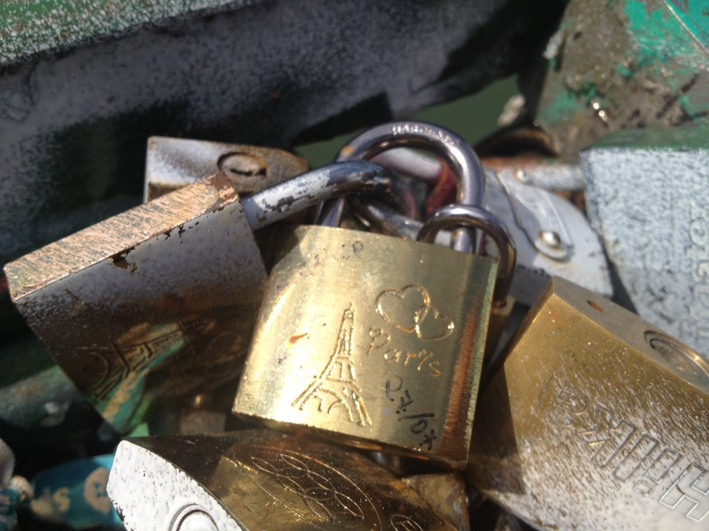 Pad locks, Paris. By Packing my Suitcase.
