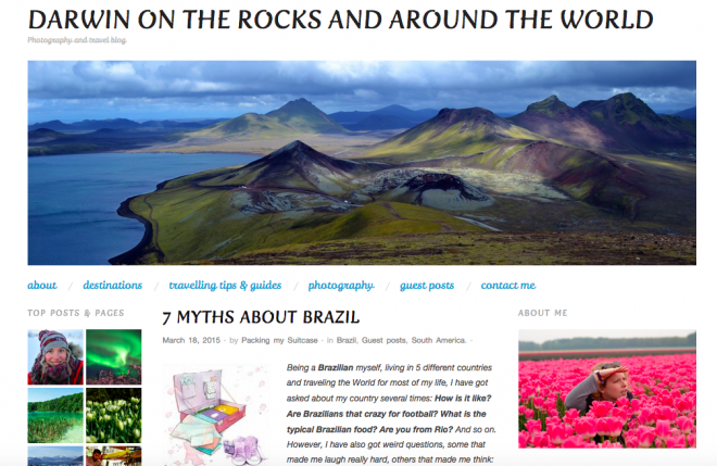 Darwin on the rocks and around the world