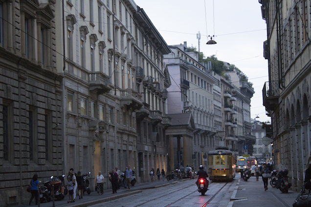 Street at downtown Milan