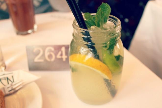 Homemade lemonade at Cafe Norden.