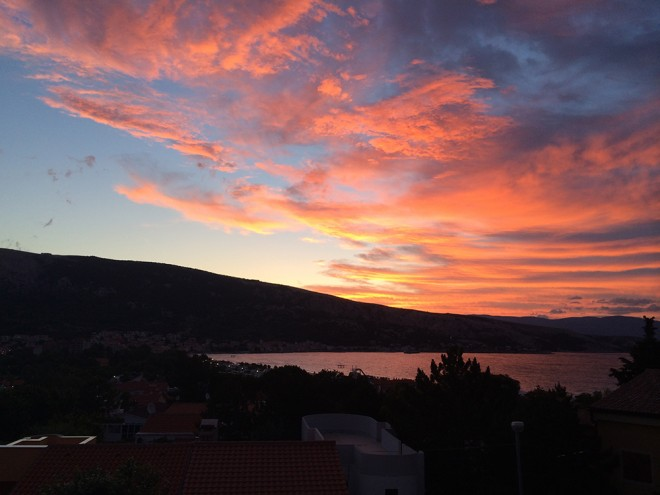 Sunrise in Baska, Krk Island