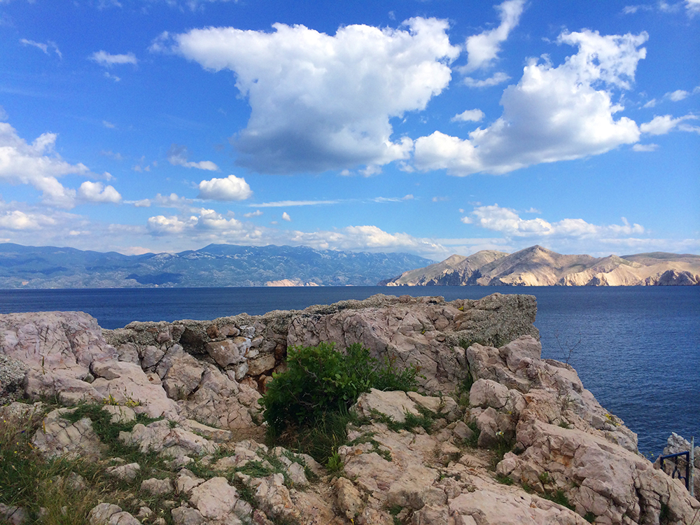 The Adriatic Sea seen from Baska