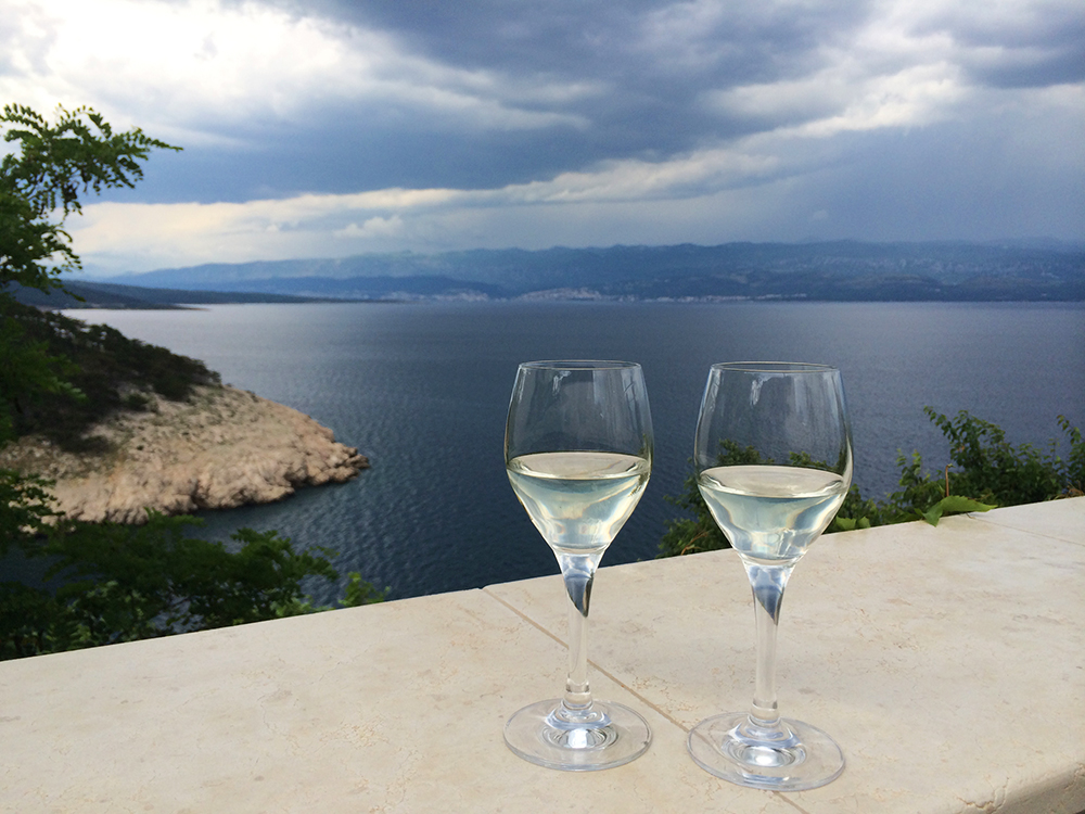 Wine in Vrbnik, Krk Island