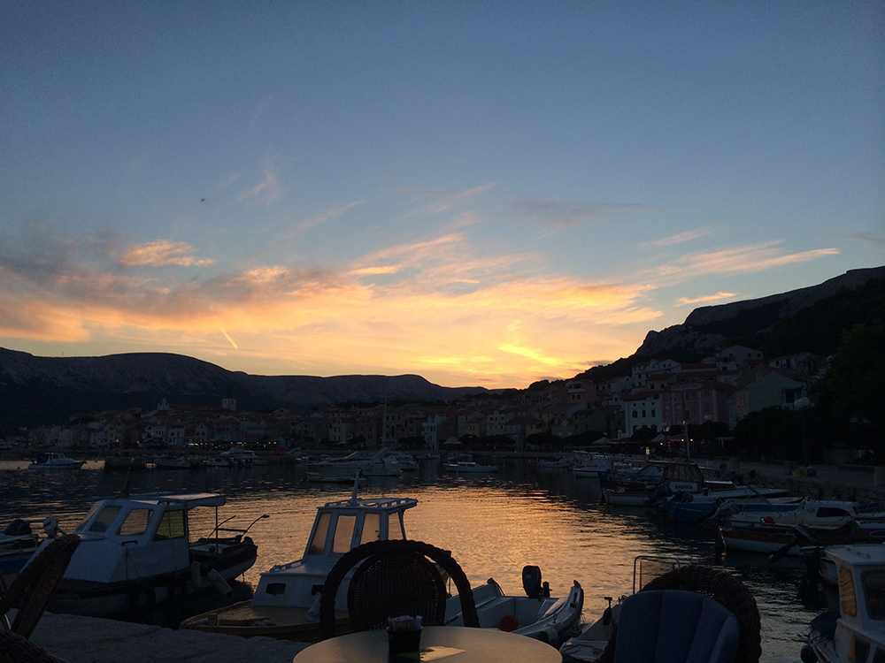 Sunset in Baska, Krk Island
