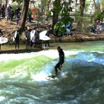 Eisbach, Munich. By Packing my Suitcase.