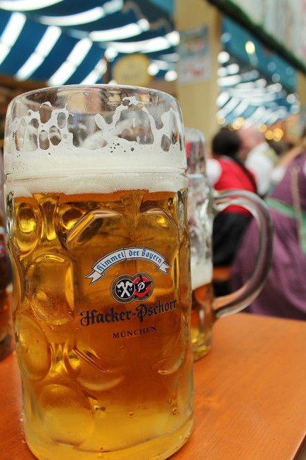 Beer at the Oktoberfest, by Packing my Suitcase