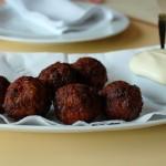 Cured meatballs