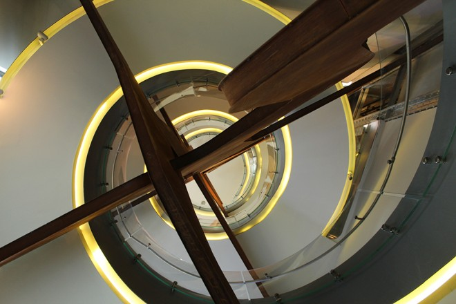 Stairs inside Fundación Telefónica