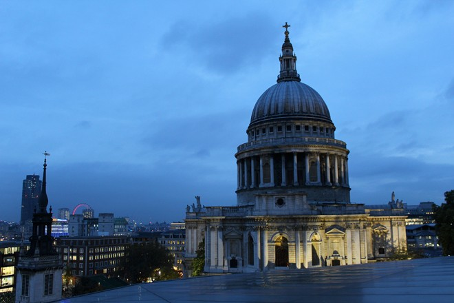 St. Paul cathedral from One New Change