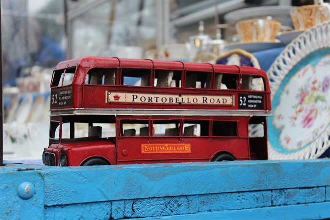 Double decker bus miniature