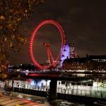 The London Eye at night, London