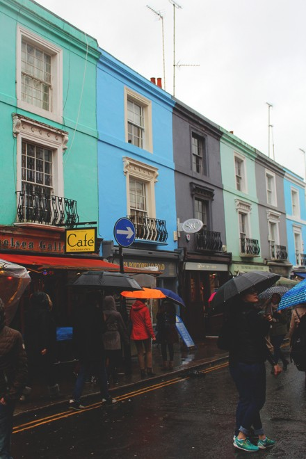 Notting Hill rain, London