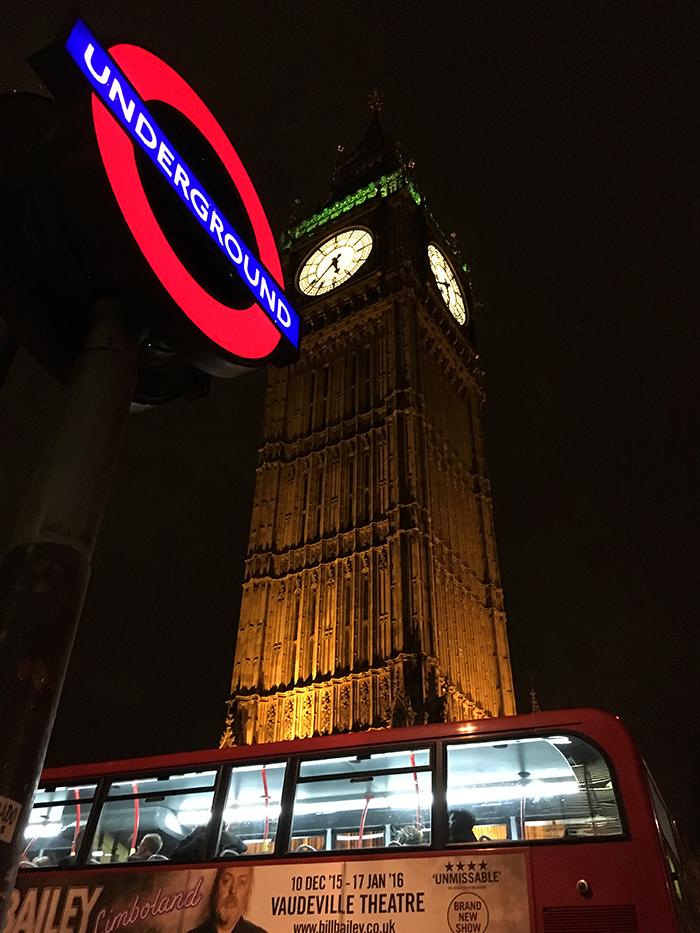 The big ben at night, London