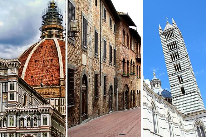 Florence San Gimignano and Siena