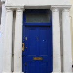 Notting Hill blue door, London