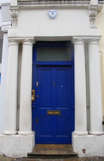 Notting Hill blue door, London
