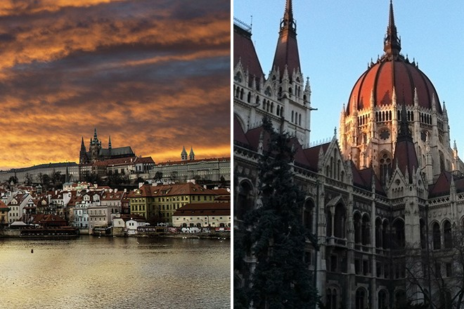 Prague and Budapest