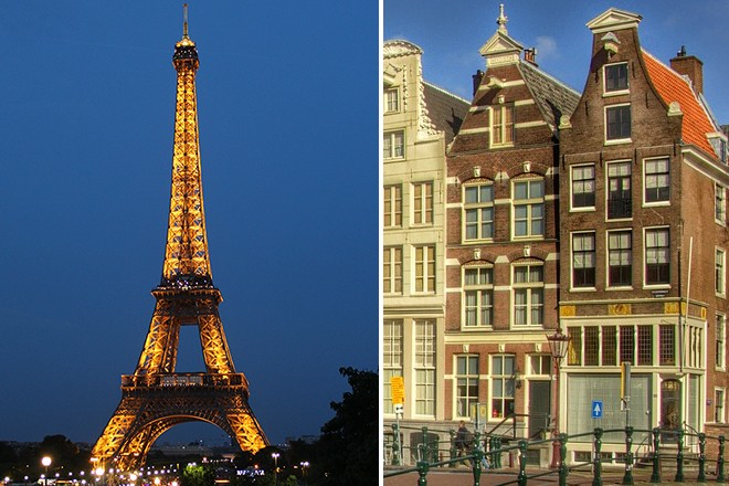 Paris and Amsterdam