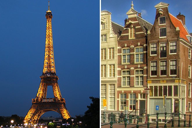 Paris and Amsterdam: 10 romantic one-week European itineraries