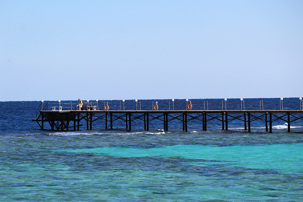 Pier in the sea
