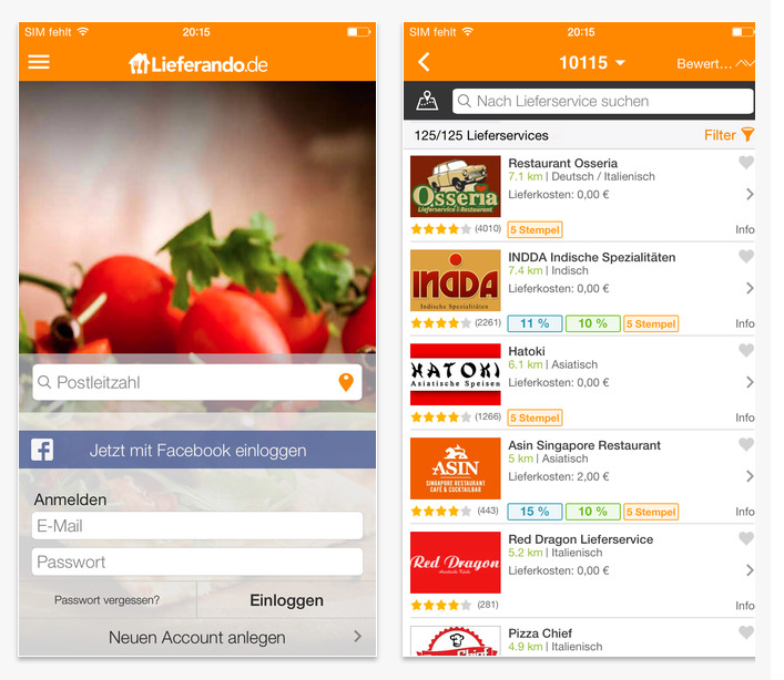 Food Delivery App Munich