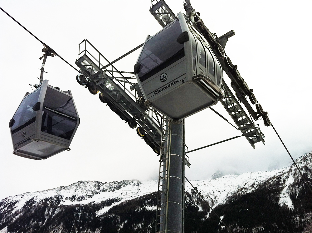 Cable car in Chamonix