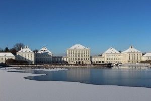 Nymphenburg Palace with snow, Munich