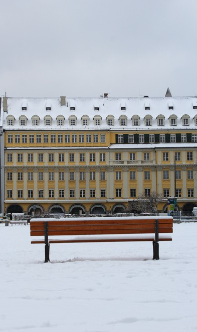 Munich with snow