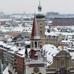 Munich with snow