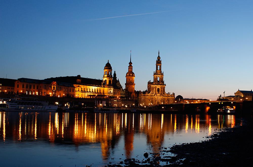 Dresden at night