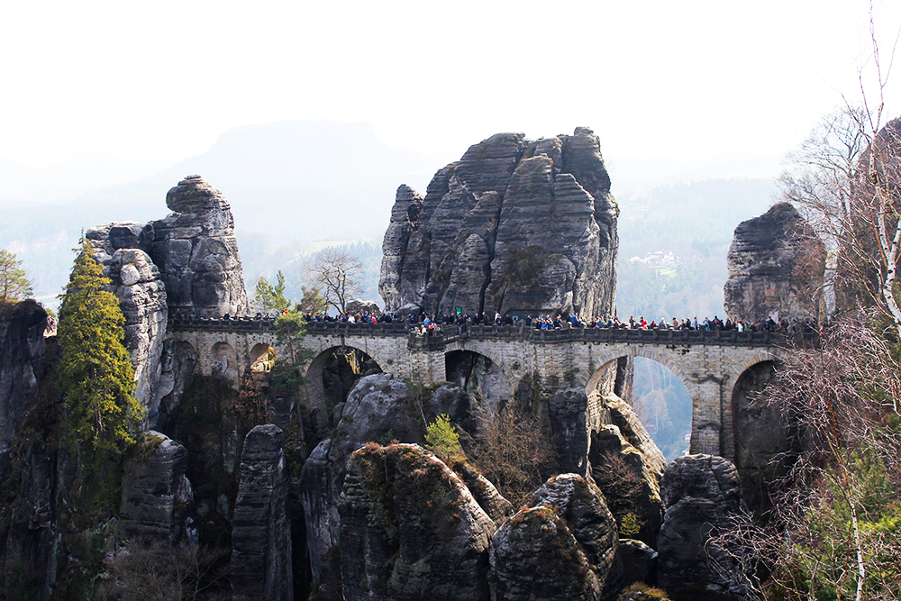 Visiting the Bastei Bridge