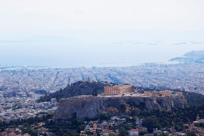 View from the Mount Lycabettus, Athens