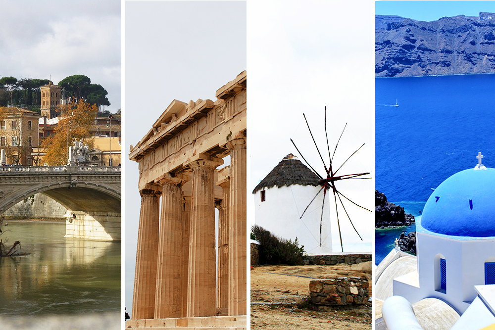 Romantic itineraries around Europe