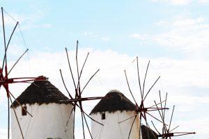 Windmills, Mykonos, Greece