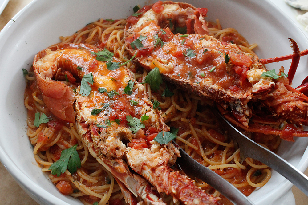 Lobster pasta, Astypalea, Greece