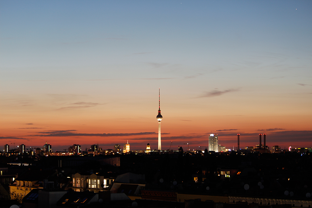 Sunset in Berlin, Germany