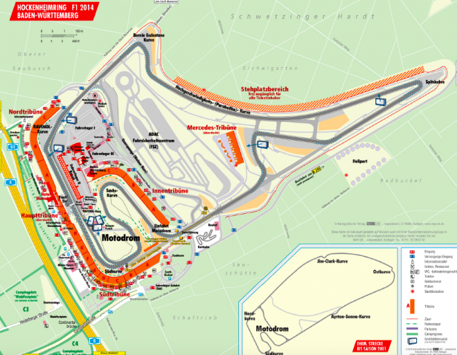 Hockenheimring Map