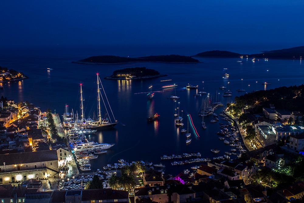 Hvar at night, Croatia