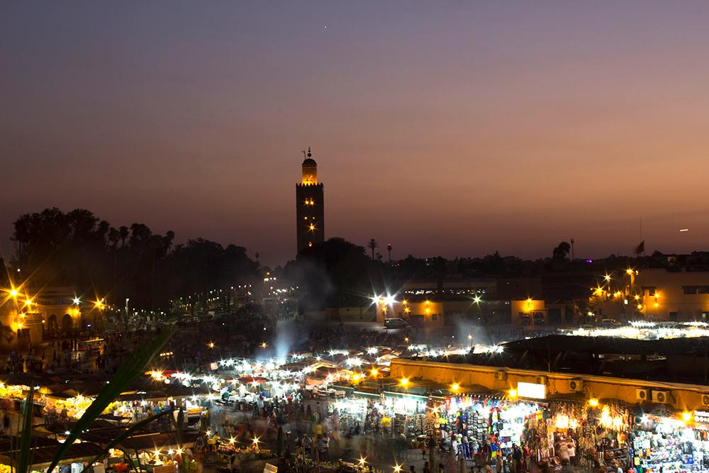 Sunset in Marrakech, Jemaa el Fna