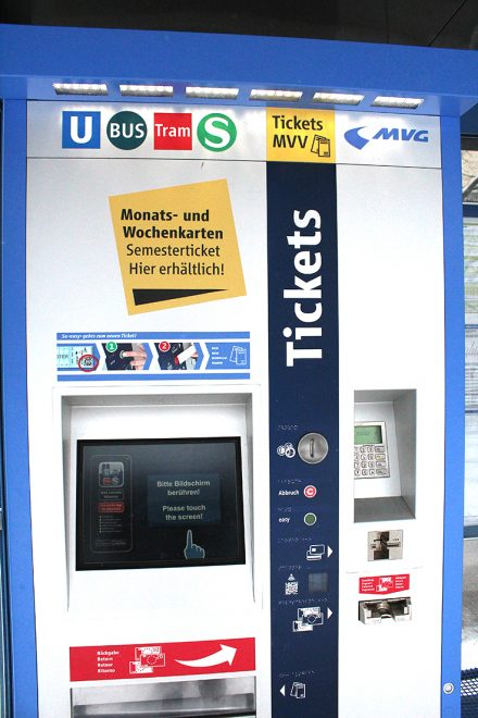 Ticket machine, Munich