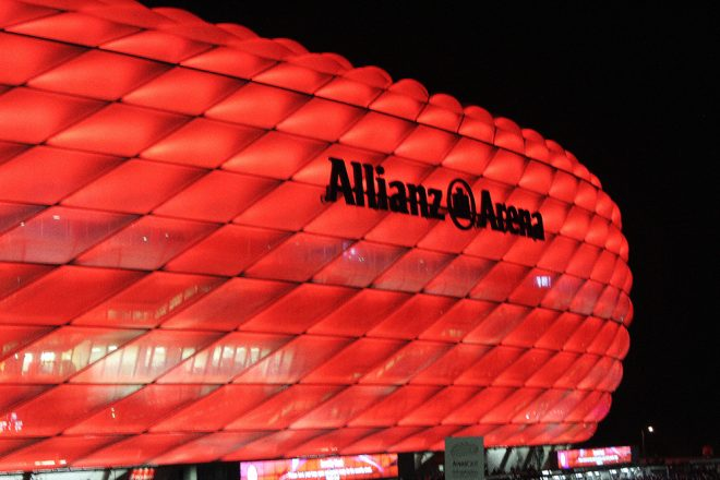 Allianz Arena at night, Munich
