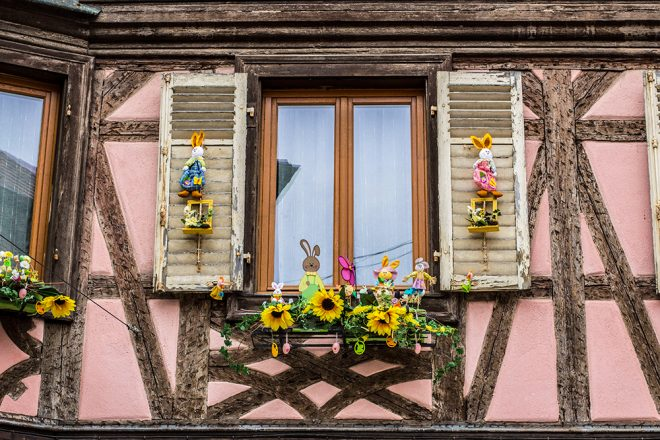 Window in Obernai, Alsace