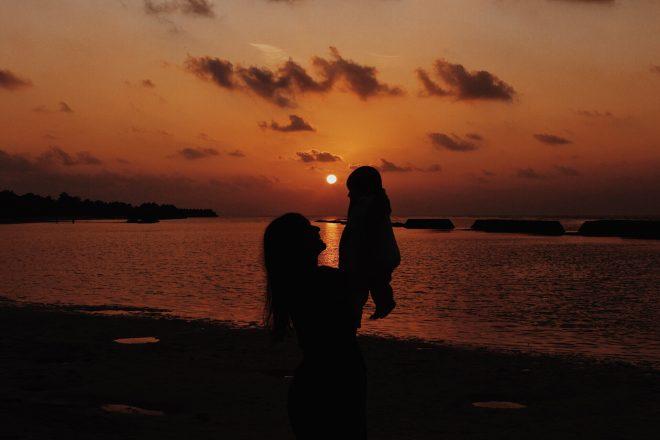 Baby sunset Maldives