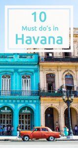 10 must do's in Havana