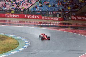 Rain at the German Grand Prix