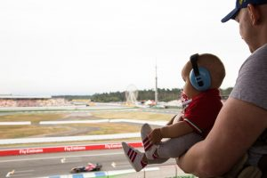 Formula 1 with a baby