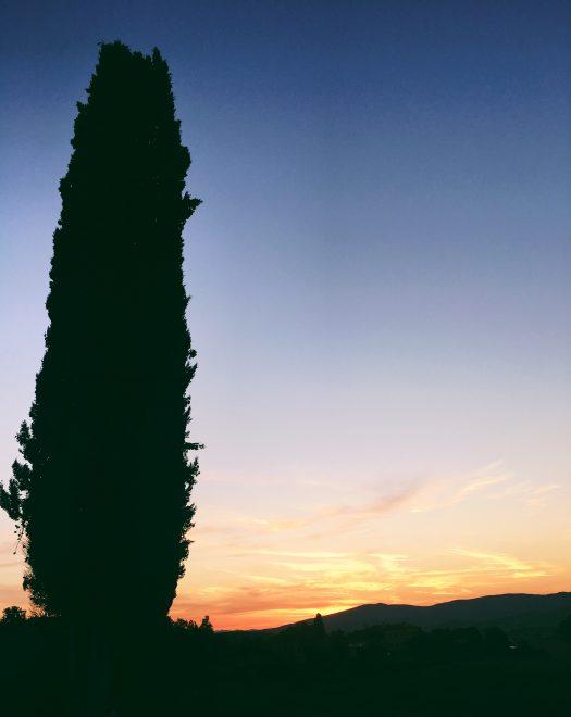 Sunset Tuscany Italy