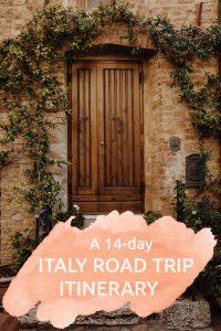 Italy road trip itinerary