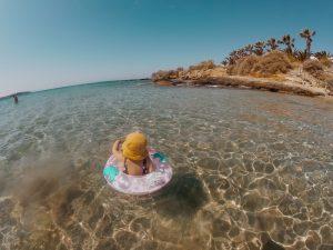Beach in Paros Greece