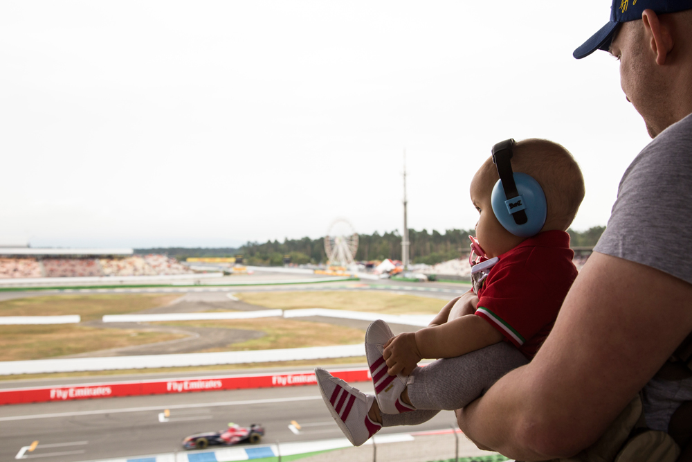 Formula 1 Grand Prix with a baby